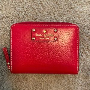 Red Kate Spade Leather Wallet